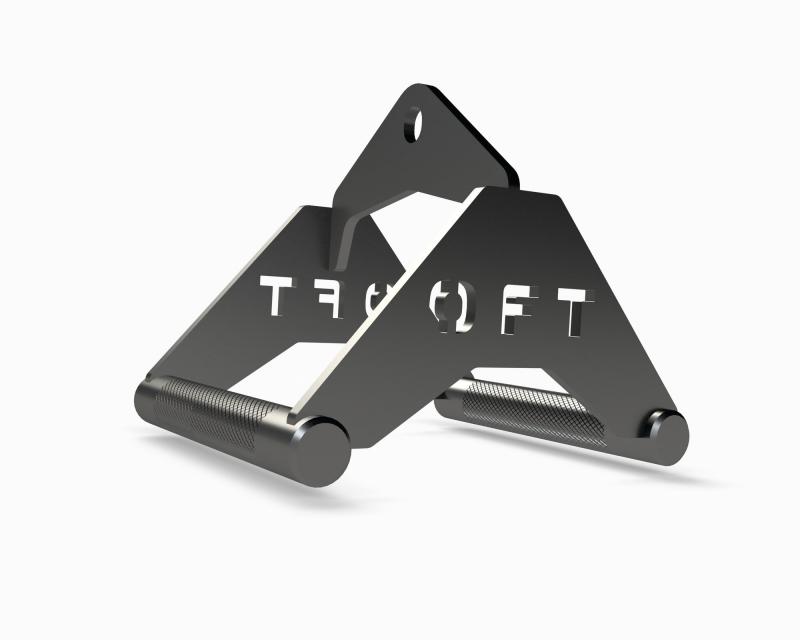 Рукоятка для тяги к животу металлическая узкий параллельный хват Original FitTools FT-RSBG