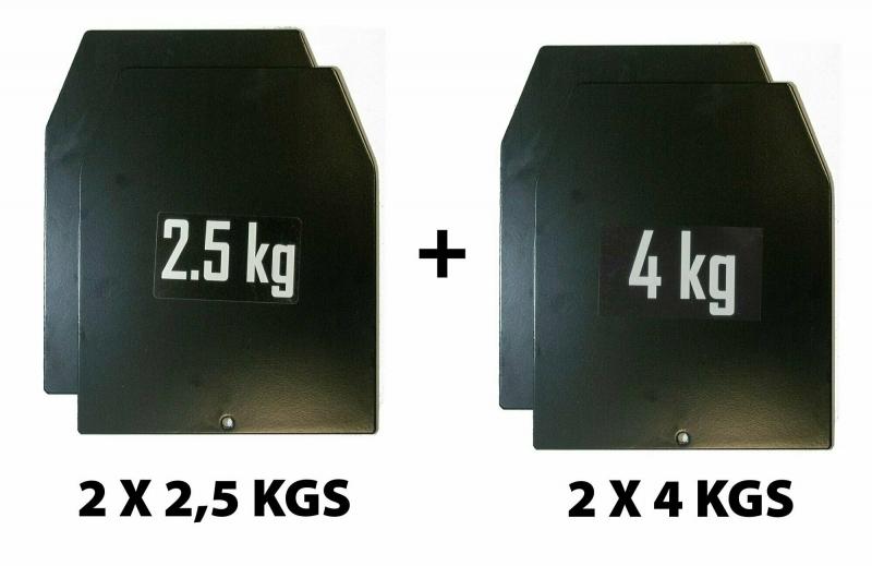 Комплект весовых пластин для утяжелительного жилета Original FitTools FT-WTS-SWT