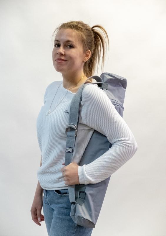 Коврик для йоги 2.5 мм пурпурный в сумке с ремешком для йоги Original FitTools FT-TYM025-PP