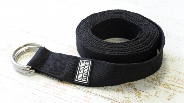 Ремешок для йоги 304 см, черный Original FitTools FT-YSTP-BLACK