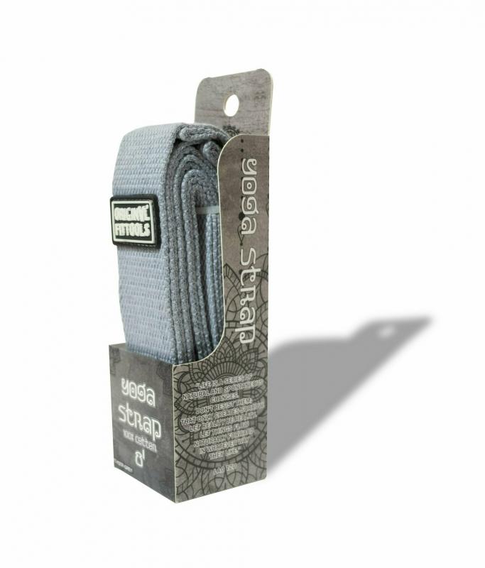 Ремешок для йоги 243 см, серый Original FitTools FT-YSTP-GREY