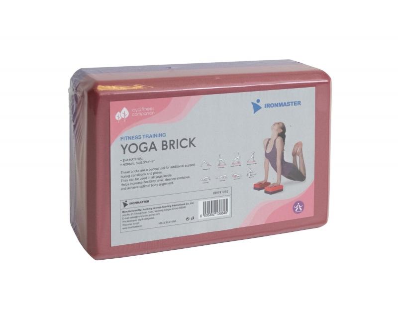 Блок для йоги бордовый-фиолетовый IRONMASTER IR97416B2