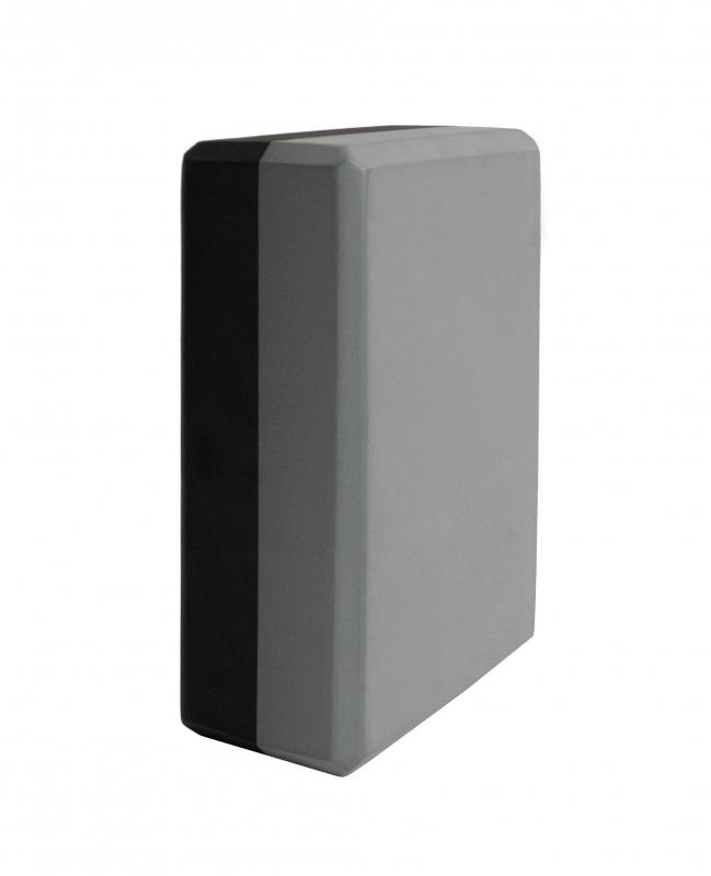 Блок для йоги серый-черный IRONMASTER IR97416B3
