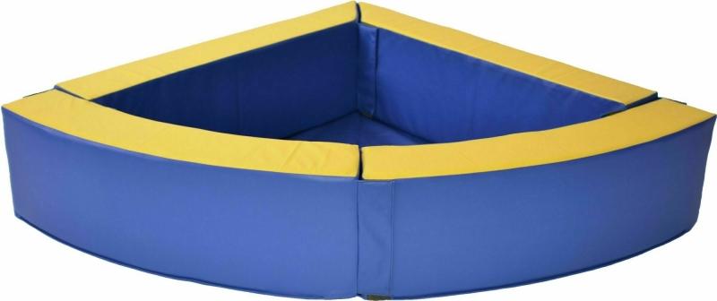 Угловой сухой бассейн для дома (120х120х30х15)