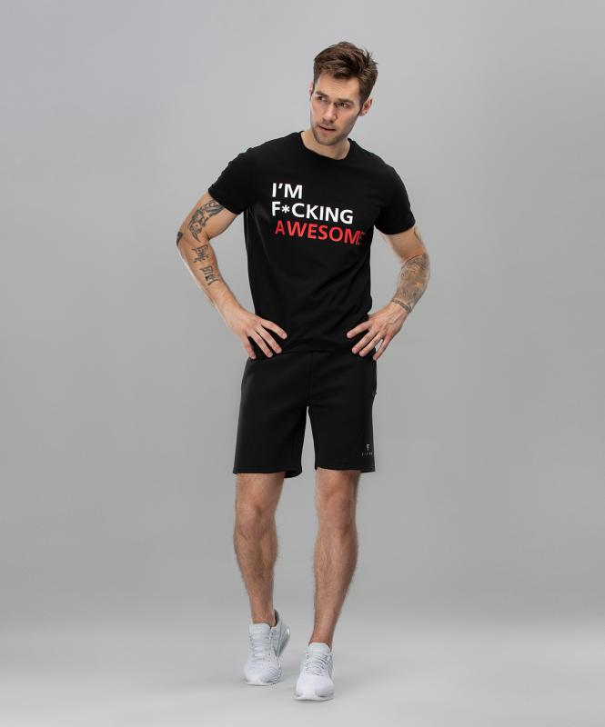 Мужская спортивная футболка Intense FA-MT-0104, черный, FIFTY