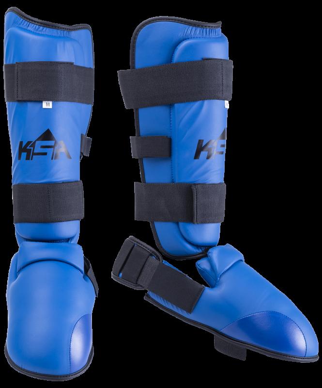 Защита голень-стопа Force Blue, к/з, KSA