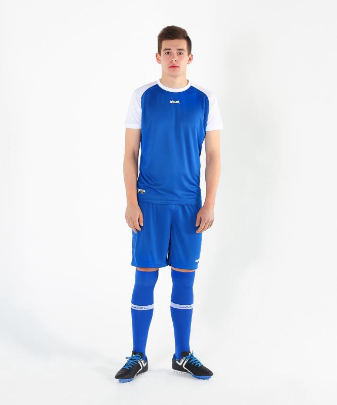 Футболка футбольная JFT-1011-071, синий/белый, детская, Jögel