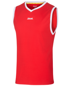 Майка баскетбольная JBT-1020-021, красный/белый, детская, Jögel