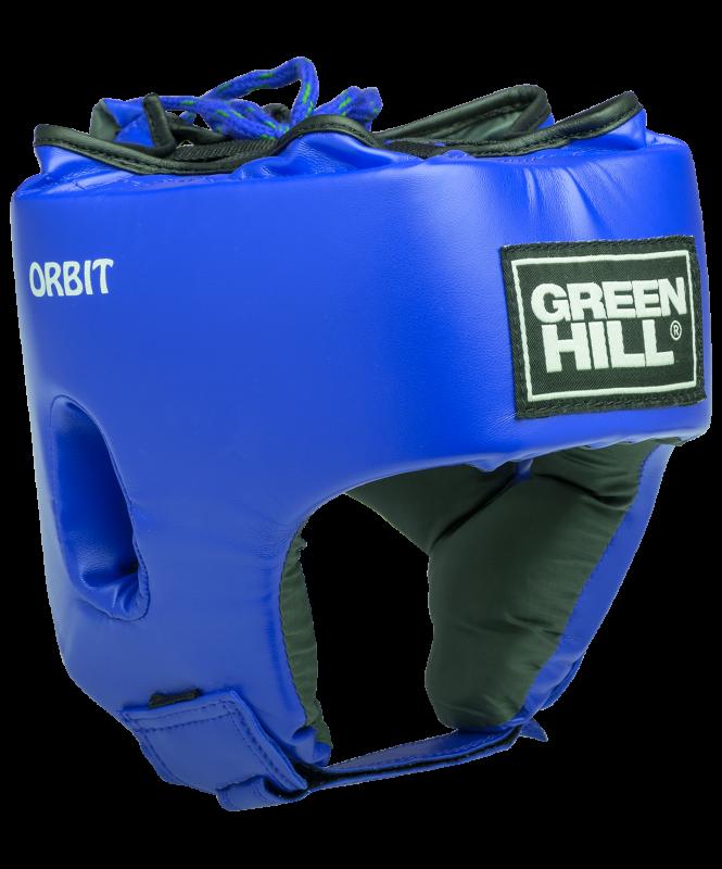 Шлем открытый ORBIT, HGO-4030, детский, кожзам, синий, Green Hill