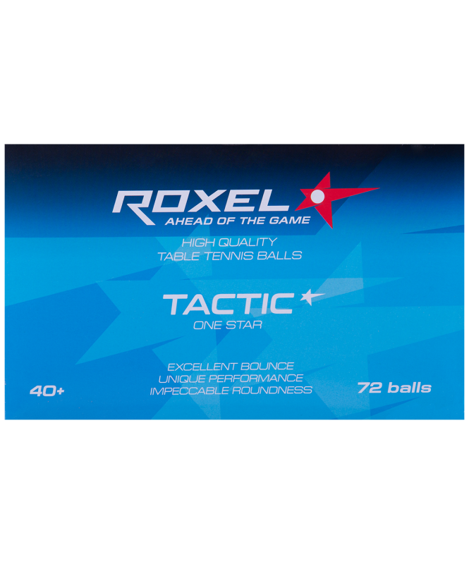 Мяч для настольного тенниса 1* Tactic, белый, 72 шт., Roxel