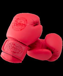 Перчатки боксерские BGS-V010, красный, 10 oz, Fight Expert