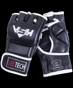 Перчатки для MMA Lion Gel Black, к/з, M, KSA