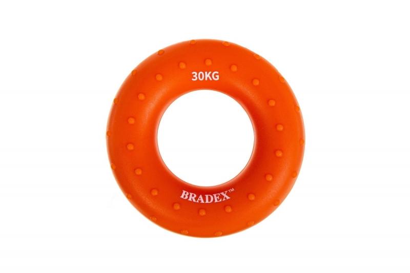 Кистевой эспандер 30 кг, круглый массажный, оранжевый BRADEX SF 0571
