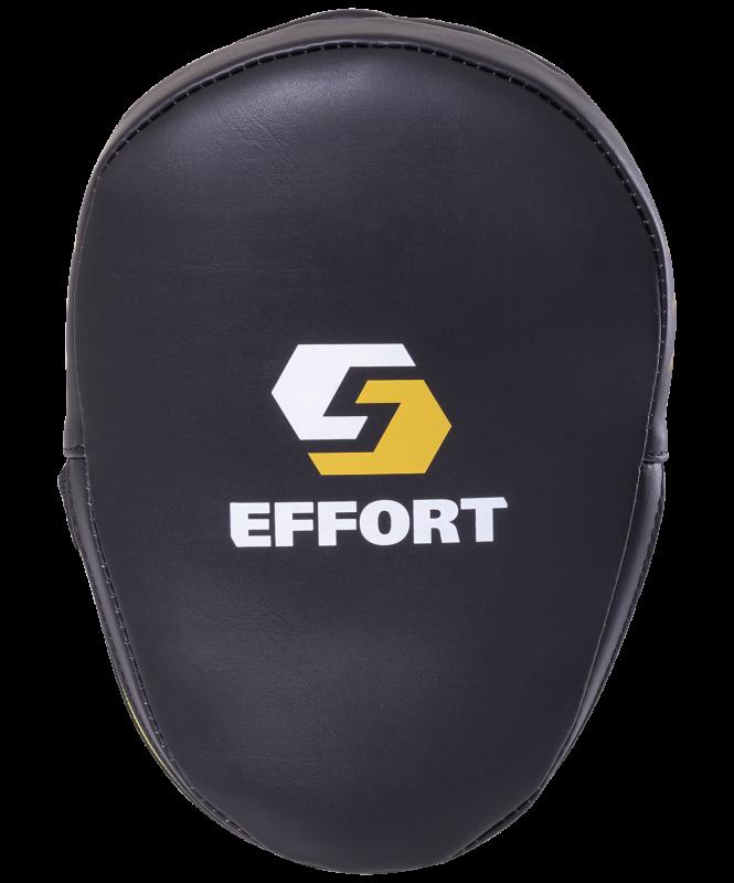Лапа E603-2 изогнутая, кожзам, черный, Effort