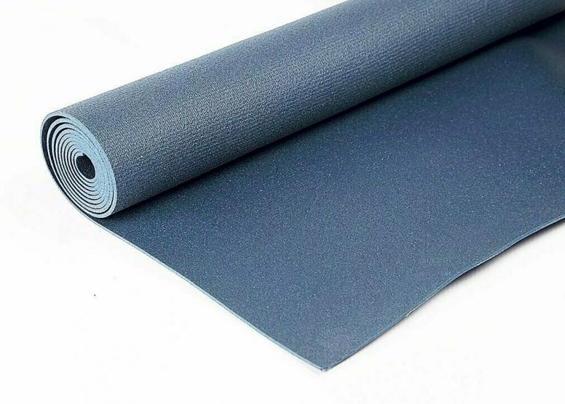 Коврик для йоги Инь Янь Студио RamaYoga черный, 173x60x0.45 см, 1.2 кг