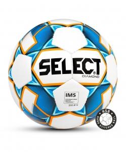 Мяч футбольный DIAMOND IMS,№5, бел/син/оранж, Select