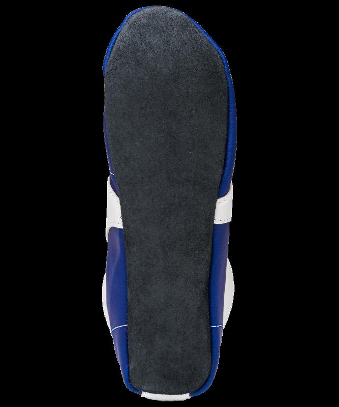 Обувь для самбо SM-0102, кожа, синий, Rusco