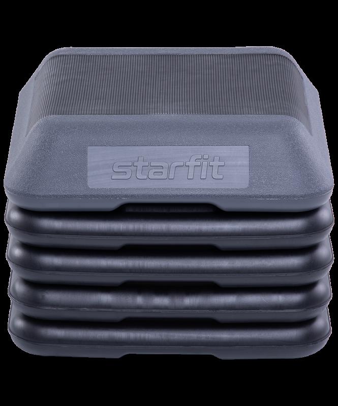 Степ-платформа SP-401 40х40х30 см, 5-уровневая, квадратная, с обрезиненным покрытием, Starfit