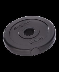 Диск пластиковый BB-203, d=26 мм, черный, 0,5 кг, Starfit
