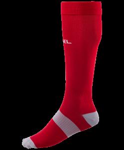 Гетры футбольные Essential JA-006, красный/серый, Jögel