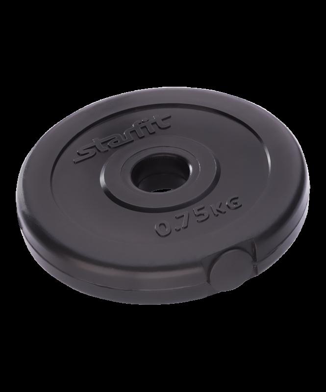 Диск пластиковый BB-203, d=26 мм, черный, 0,75 кг, Starfit