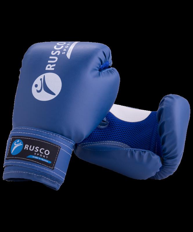Перчатки боксерские детские, 6oz, к/з, синий, Rusco