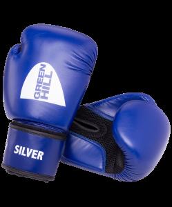 Перчатки боксерские Silver BGS-2039, 12oz, к/з, синий, Green Hill