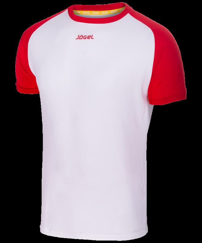 Футболка футбольная JFT-1011-012, белый/красный, детская, Jögel