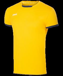 Футболка волейбольная JVT-1030-049 желтый/темно-синий, детская, Jögel