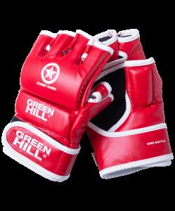 Перчатки для MMA Combat Sambo MMR-0027, к/з, красные , Green Hill