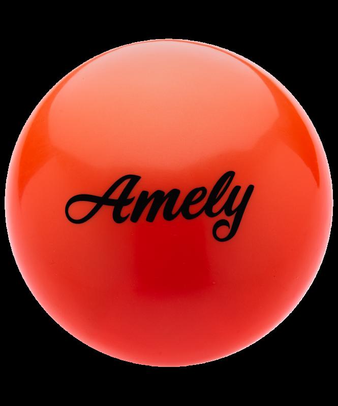 Мяч для художественной гимнастики AGB-101 19 см, оранжевый, Amely