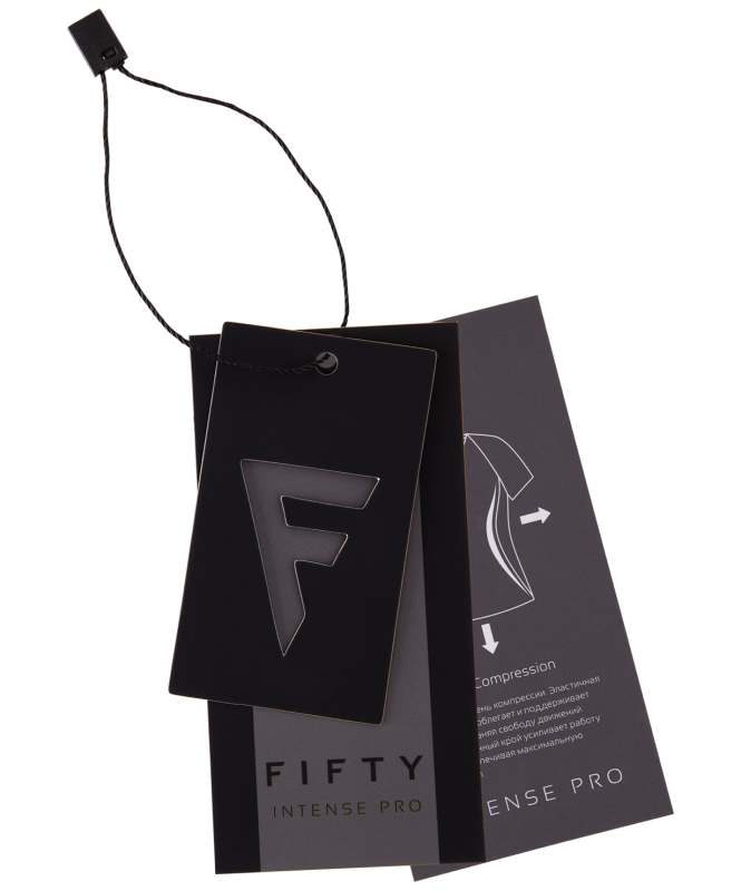 Мужской компрессионный лонгслив Intense PRO FA-ML-0101, черный, FIFTY