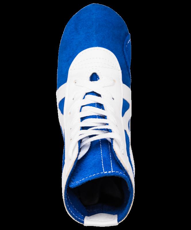 Обувь для самбо RS001/2, замша, синий, Rusco