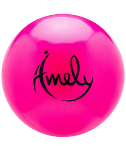 Мяч для художественной гимнастики AGB-301 15 см, розовый, Amely