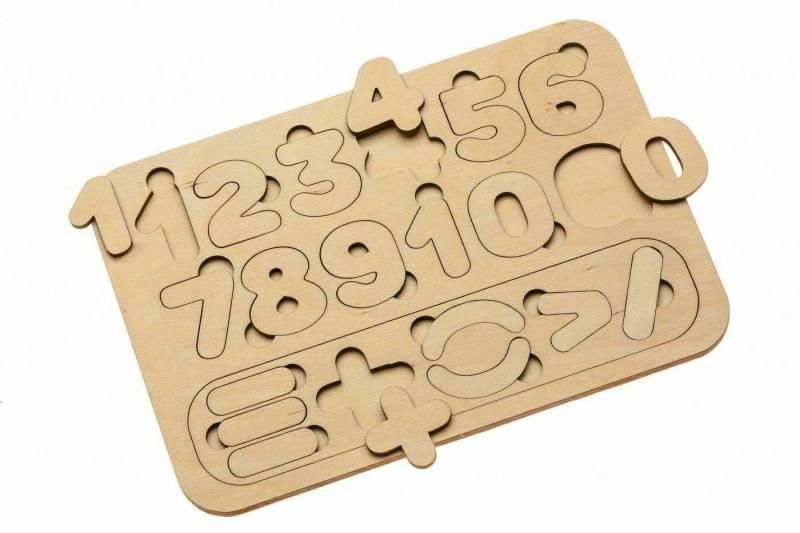Деревянная рамка-вкладыш «ЦИФРЫ И СЧЁТ» BRADEX DE 0419