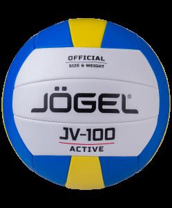 Мяч волейбольный JV-100, синий/желтый, Jögel