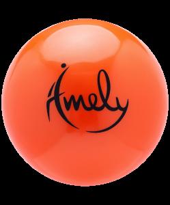 Мяч для художественной гимнастики AGB-301 19 см, оранжевый, Amely