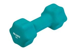 Гантель неопреновая, 3 кг, голубая BRADEX SF 0543