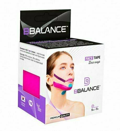 Кинезио тейп для лица BB Face Tape™ 5см х 5м розовый