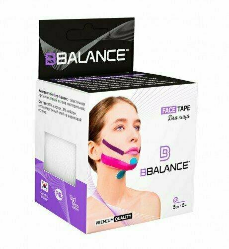 Кинезио тейп для лица BB Face Tape™ 5см х 5м белый