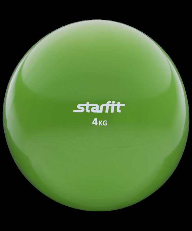 Медбол GB-703, 4 кг, зеленый, Starfit