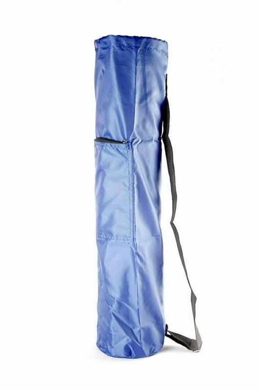 Чехол для коврика Симпл с карманом  RamaYoga 167708 синий, 60 см, диам. 15 см, 0.1 кг
