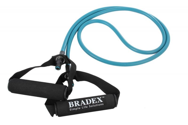 Эспандер трубчатый с ручками, нагрузка до 9 кг, синий BRADEX SF 0233