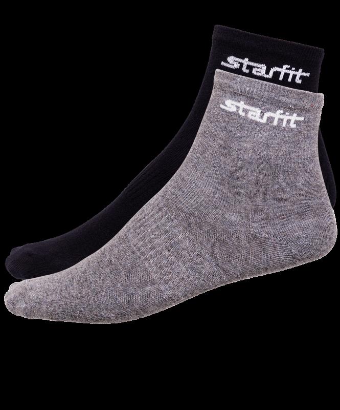 Носки средние SW-206, серый меланж/черный, 2 пары, Starfit