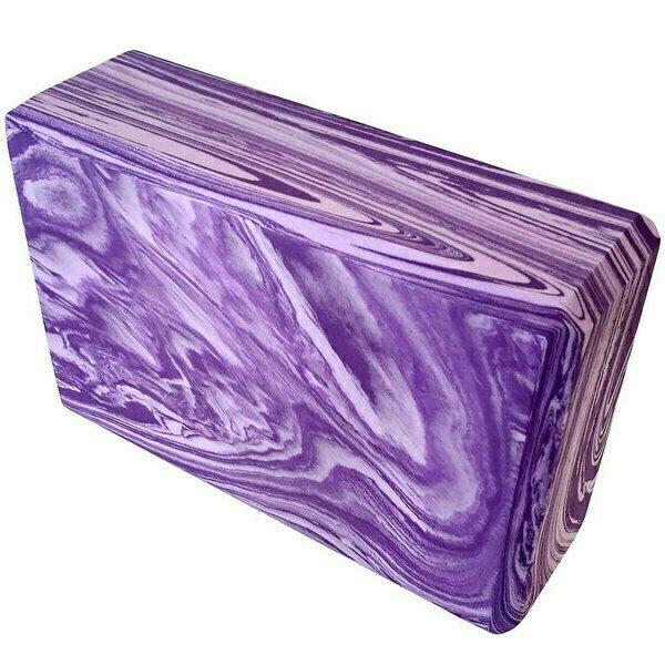 Йога блок Спортекс полумягкий гранит фиолетовый-розовый E29314-2