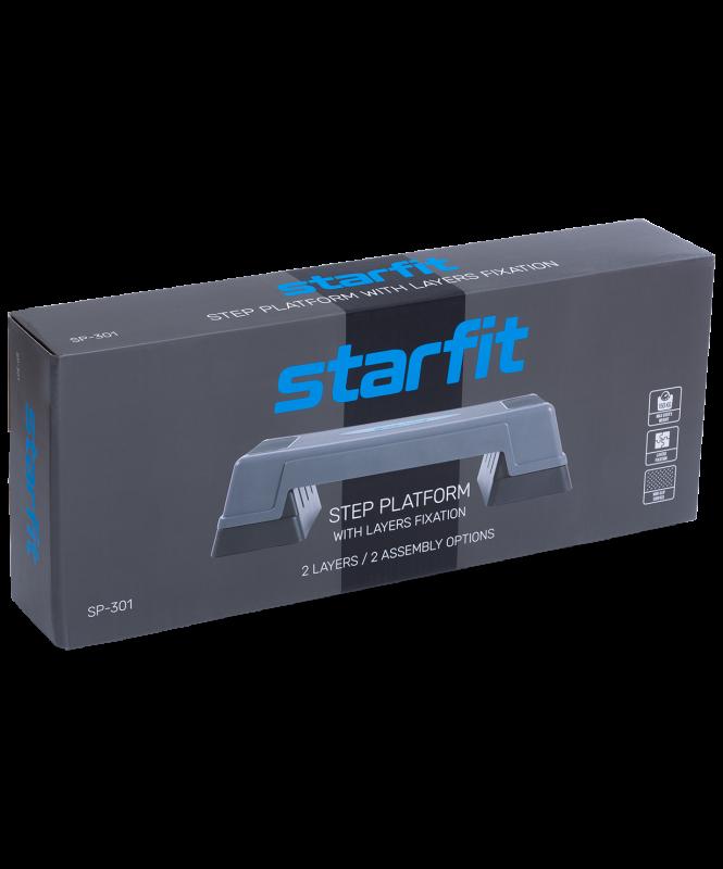 Степ-платформа SP-301 70х28х22 см, 2-уровневая, Starfit