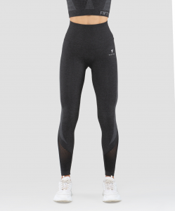Женские спортивные бесшовные леггинсы Balance FA-WH-0108, серый, FIFTY