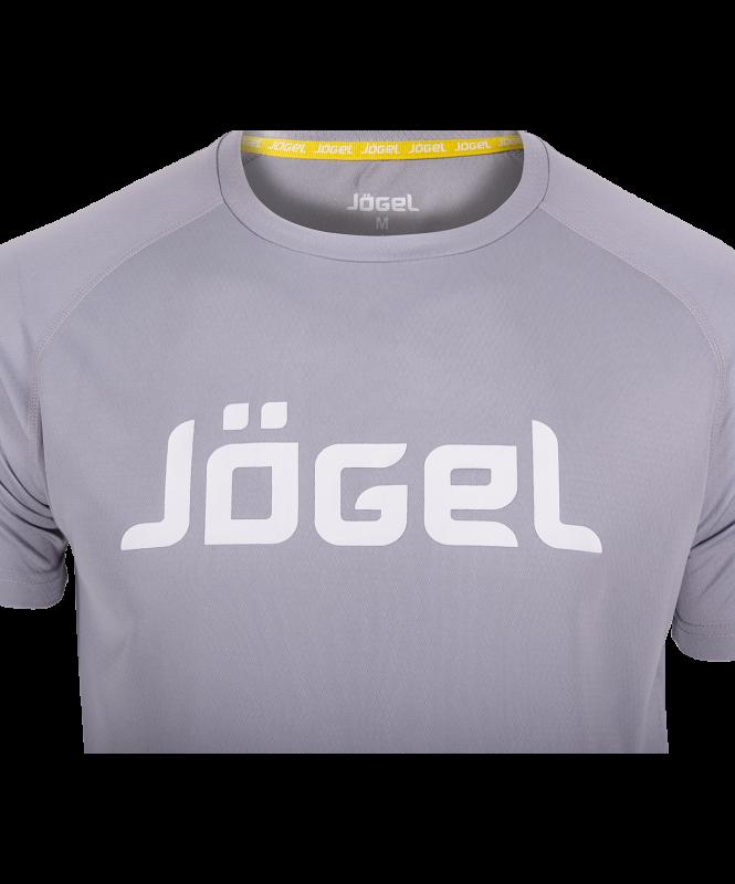 Футболка тренировочная JTT-1041-081, полиэстер, серый/белый, Jögel