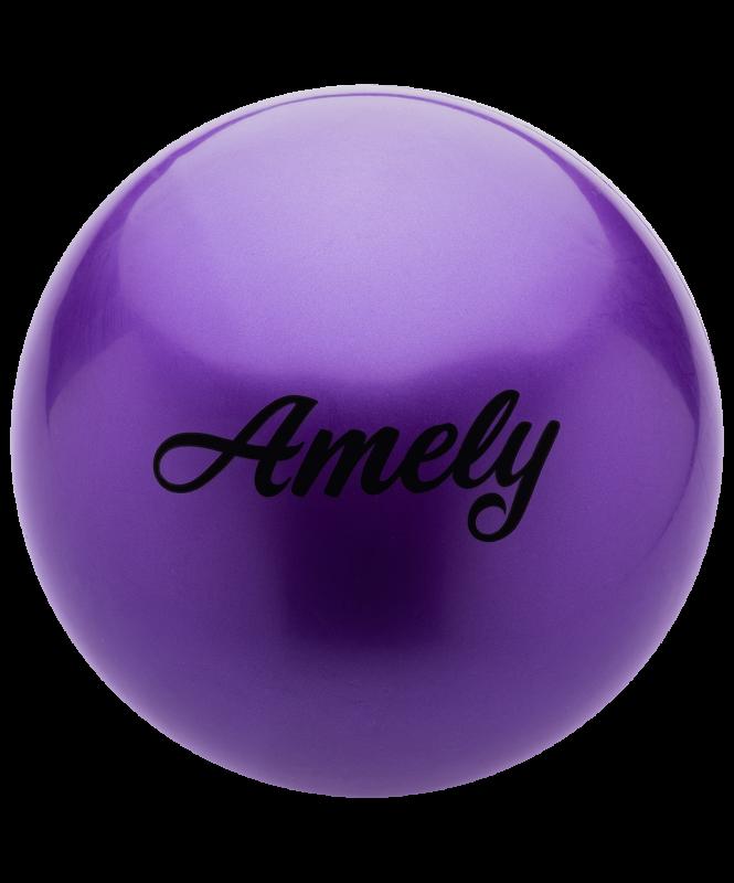 Мяч для художественной гимнастики AGB-101, 19 см, фиолетовый, Amely