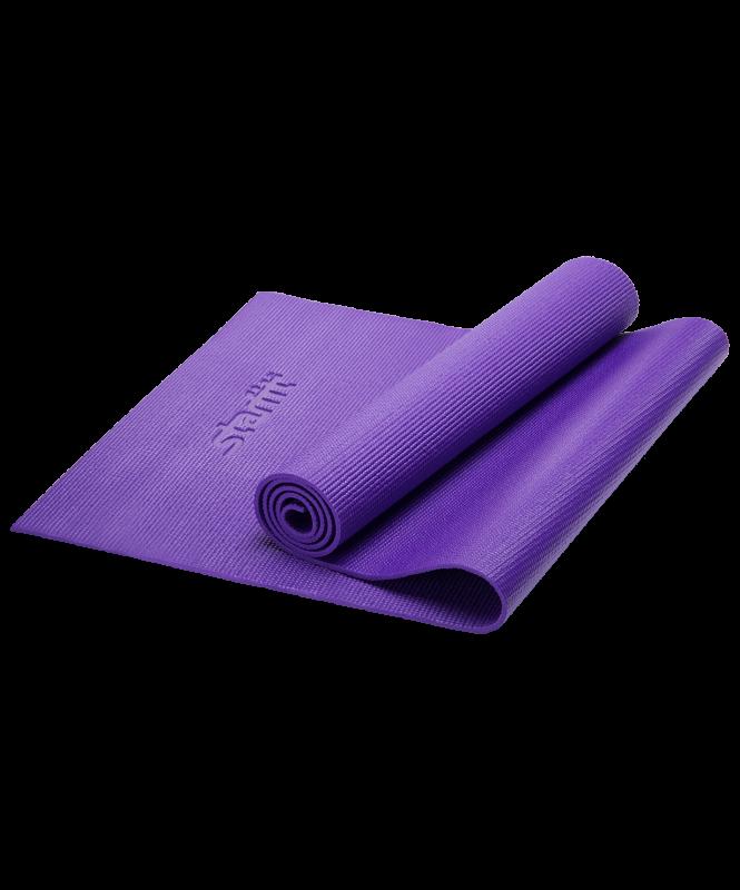 Коврик для йоги FM-101, PVC, 173x61x0,6 см, фиолетовый, Starfit